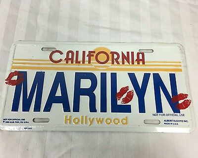 NEW Marilyn Monroe Metal License Plate Hollywood California Kisses Lips Sealed