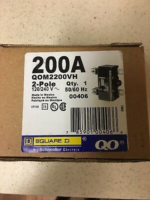 QO Square D 200amp 2 Pole Main Breaker! Brand New In The box. Never opened.
