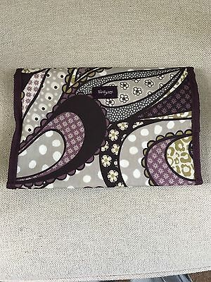 thirty one organizer tablet or travel case purple pattern nwot