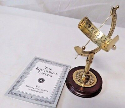 The Franklin Mint 1987 Equinoctial Sundial w/ COA Great Instruments of Discovery
