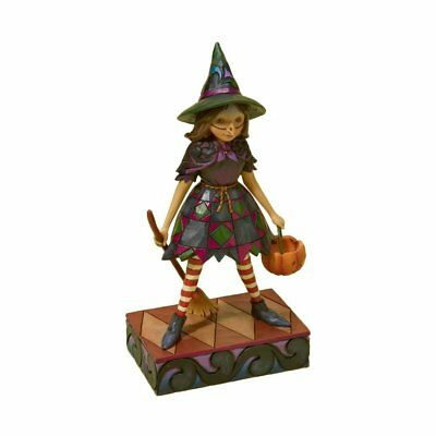 Jim Shore Heart Mid Size Halloween Figures- Witch Way Candy & That's A Wrap*BNIB