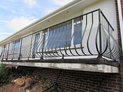 WROUGHT IRON RAILINGS...an elegant design Cash on collection only