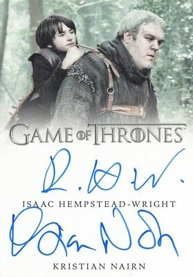 Game Of Thrones Valyrian Steel - Nairn And Hempstead-Wright Dual Autograph Card