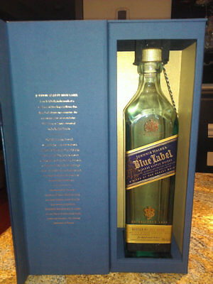 Johnnie Walker Blue - Empty Bottle with Box and Medallion (750 mL)