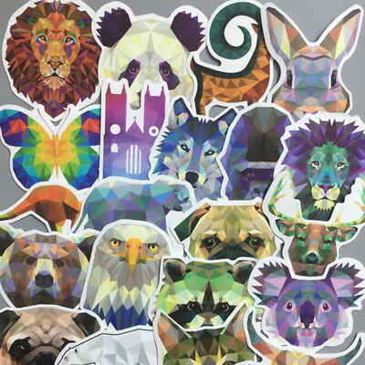35Pcs Diamond Animal Decal for Car Suitcase Laptop Notebooks Waterproof Stickers