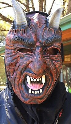 Freaky Ware Wolf Devil Scary Rubber Or Latex Mask Shirt Halloween Theatre Fangs