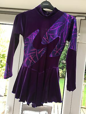 Figure Ice Skating Dress, Purple Competition Dress, Size Small