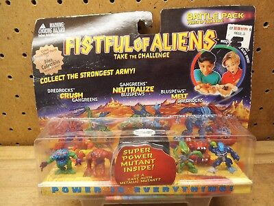 FISTFUL of ALIENS Battle Pack 920005 YES Game Toy Figure Set Sealed Vintage! (4)