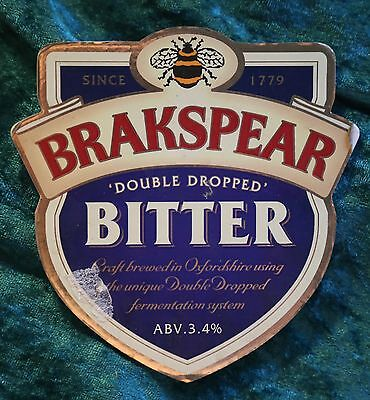 Bar Brakspear Double Dropped Bitter Beer Badge Pump Clip Pub Home Bar