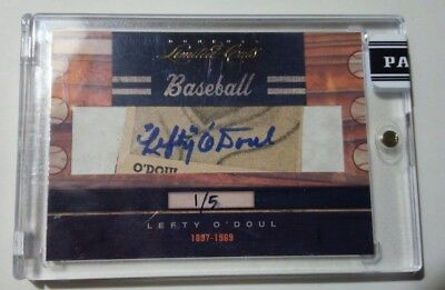 2011 Donruss Limited Cuts Lefty O'Doul Yankees Rare 1/5