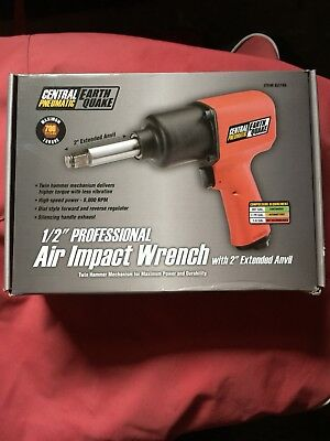 "Central Pneumatic EarthQuake 1/2"" Air Impact Wrench 62746 (10356-1AE)"