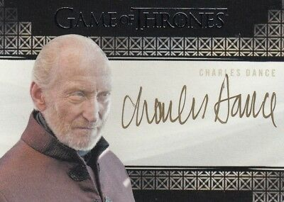 Game Of Thrones Valyrian Steel - Charles Dance (Tywin) Valyrian Autograph L