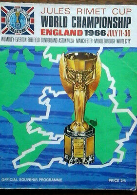 1966 World Cup Brochure Covers All Games