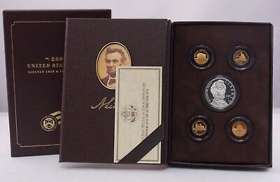 2009 Lincoln Coin & Chronicles Set Proof Silver Dollar Commemorative & 4 Cents