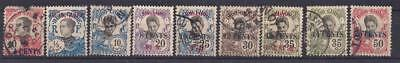 French Indochina 25 stamps, used, ca. 1922-30