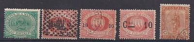 San Marino selection of 9 stamps, mint hinged or used, ca. 1894-1928