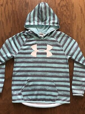 Under Armour Storm Cold Gear Youth Girl's Large YLG Hoodie Sweatshirt Loose