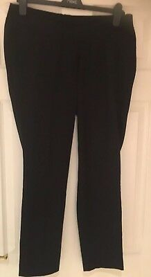 Next Black Maternity Trousers Size 10