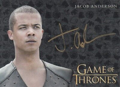 Game Of Thrones Valyrian Steel - Jacob Anderson (Grey Worm) Gold Autograph L