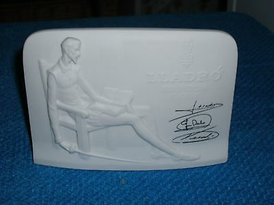 LLADRO COLLECTORS SOCIETY PLAQUE with THREE SIGNATURES 15W x 10.5H x 6cm D