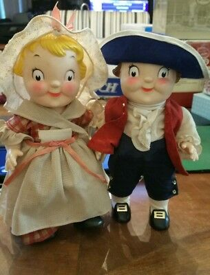 """CAMPBELL'S SOUP KIDS DOLLS Bicentennial PAUL REVERE and BETSY ROSS 10"""""""