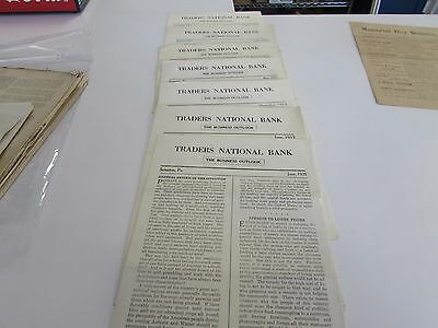 Traders National Bank - The Business Outlook - Scranton Pa  Lot Of 7 Issues 1920