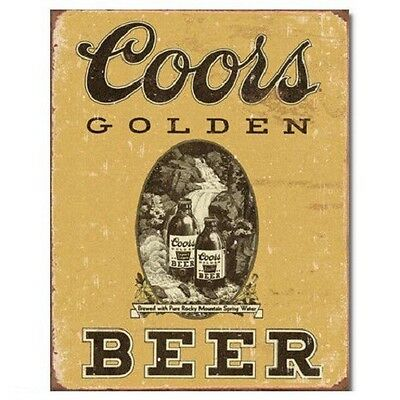 COORS Golden Beer Distressed Vintage Style Bar Pub Wall Decor Metal Tin Sign New