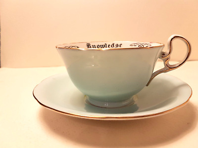Aynsley China 'Cup of Knowledge' cup and saucer ca 1923