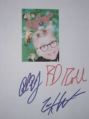 A Christmas Story Signed Movie Script X3 Peter Billingsley Ward Robb reprint