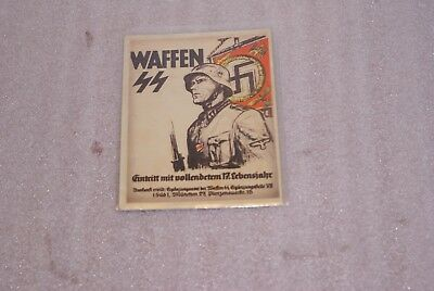 WWII Sign Up Voluntarily To The Armor Division Germany SS Postcard Unused