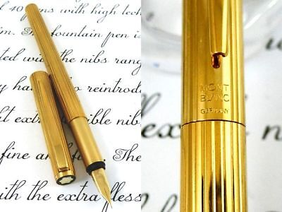 """MONTBLANC 20K-GOLD Body Noblesse No.1147"""" BEAUTIFUL-STRIPE Fountain Pen Germany"""