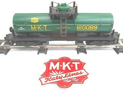 S Gauge American Flyer - N.A.S.G 1989 M-K-T KATY Single Dome Tank Car - MIB -NOS