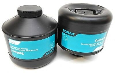 ECOLAB SOLITAIRE Manual Detergent . . 2 @ #5lb Capsules . . FREE SHIPPING!