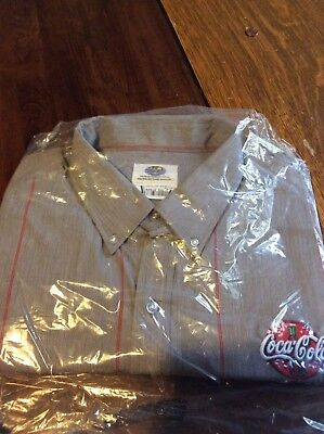 Coca Cola Mens work Shirts size 3xl brand new in the package