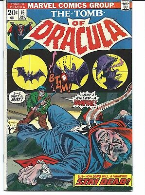 Tomb of Dracula #15 (Dec 1973, Marvel) Classic Series! Fine/Very Fine Condition