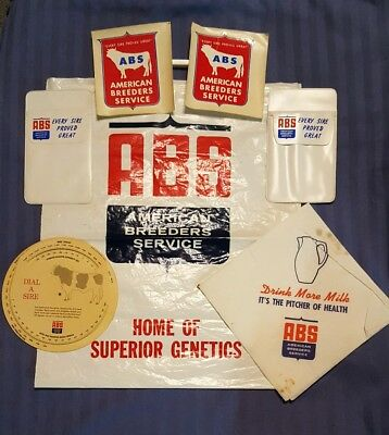 VINTAGE AMERICAN BREEDERS SERVICE ABS DAIRY FARM CATTLE COW INSEMINATION 7 items