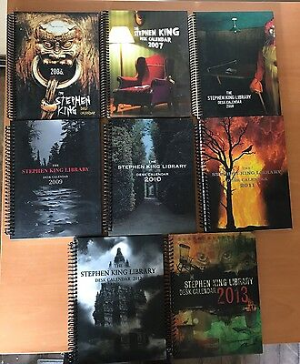 Stephen King Lot of 8 Calendar 2006-2013 Collectible NEW
