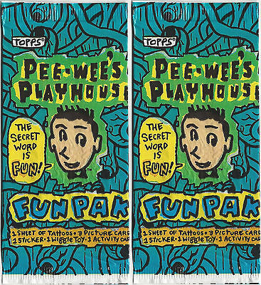 1988 Topps Pee-Wee's Playhouse Fun Pack Lot of Two