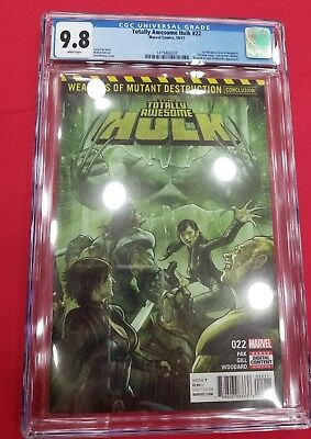 Totally Awesome Hulk #22 Cgc 9.8 1St App Weapon H 1St Print Wolverine