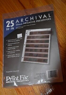 New Package of 25 Archival 5mm Negative Preservers