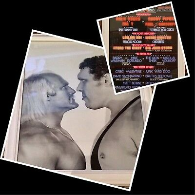 WWE WWF WrestleMania 1 & 3 Double Sided High Quality Poster