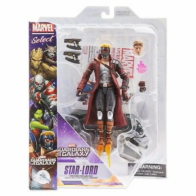 """Disney Store Guardians Of The Galaxy Marvel Select 8"""" Star Lord Action Figure"""