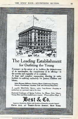 1911 Best & Co. Depart. Store ad--5 th Ave.-New York --Juvenile clothing ad-[-28