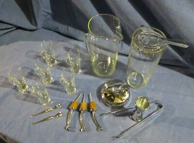"""Barware Collection Vntg~When """"Bridge and Cocktail Parties"""" were all the Rage!"""