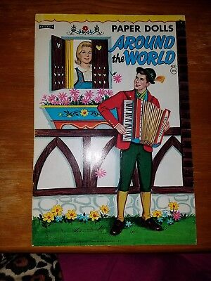 1971 Vintage New Uncut Paper Dolls - Around The World by Artcraft