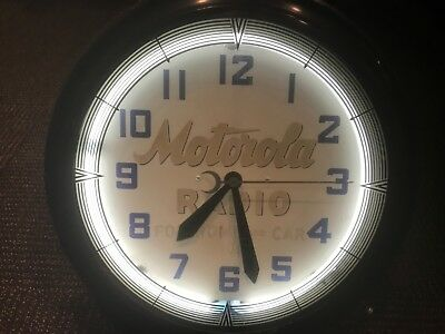 Original Motorola Neon Advertising Clock,  Rare original condition