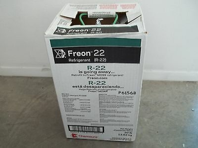 Chemours DuPont Freon R-22 30LB Brand New In Box Sealed