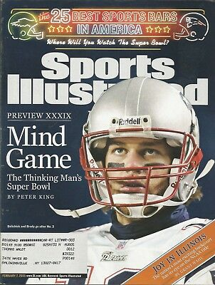 New England Patriots Tom Brady 2005 Sports Illustrated 12X All Pro 2X Mvp Champs
