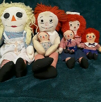Vintage Raggedy Ann and Raggedy Andy lot