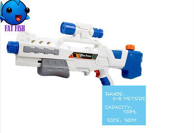 Super Shooters Massive Pistol Water Gun Child Summer Blaster High Power Pump New